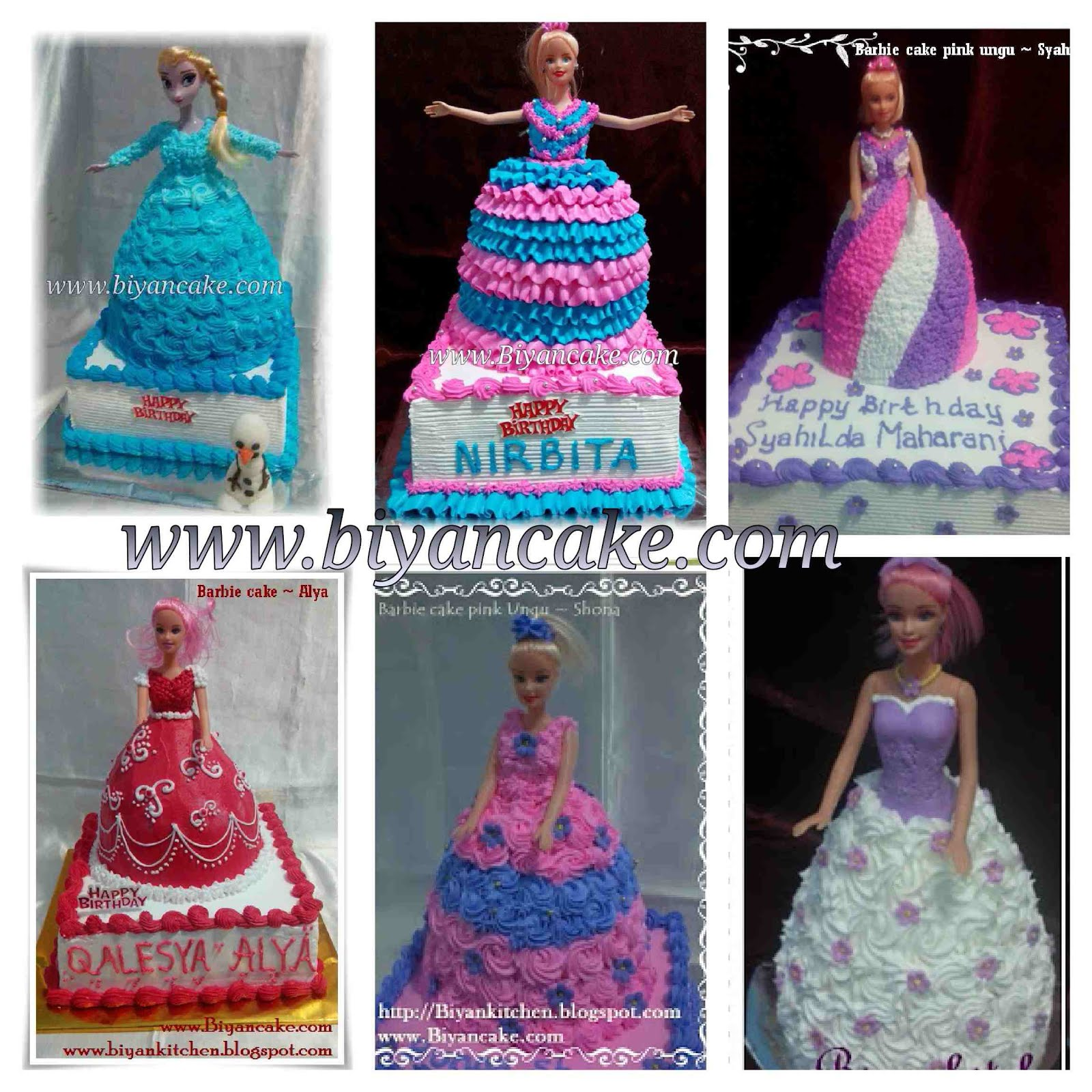 Barbie cake hias cream
