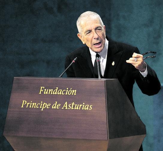 LEONARD COHEN - Discurso premio Principe de Asturias