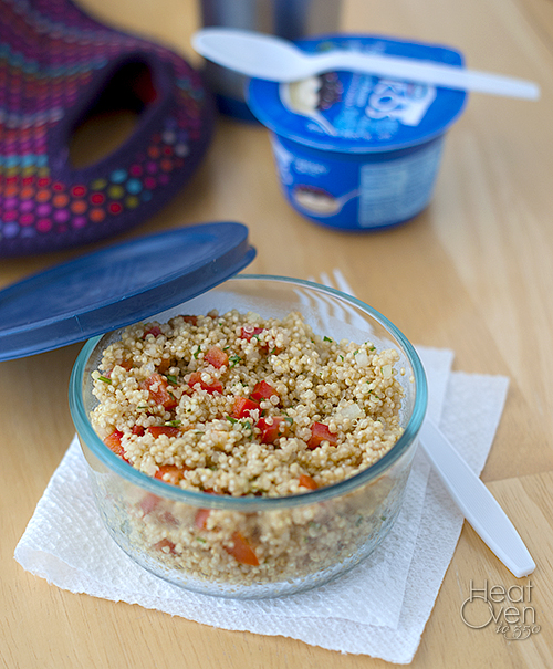 Quinoa Salad with Red Pepper and Cilantro