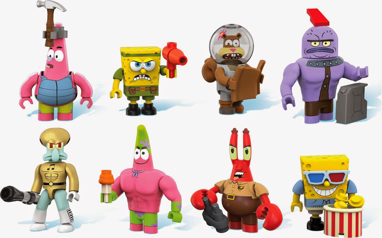 Spongebob Squarepants Mega Bloks Series 1 Surfer Dude Common