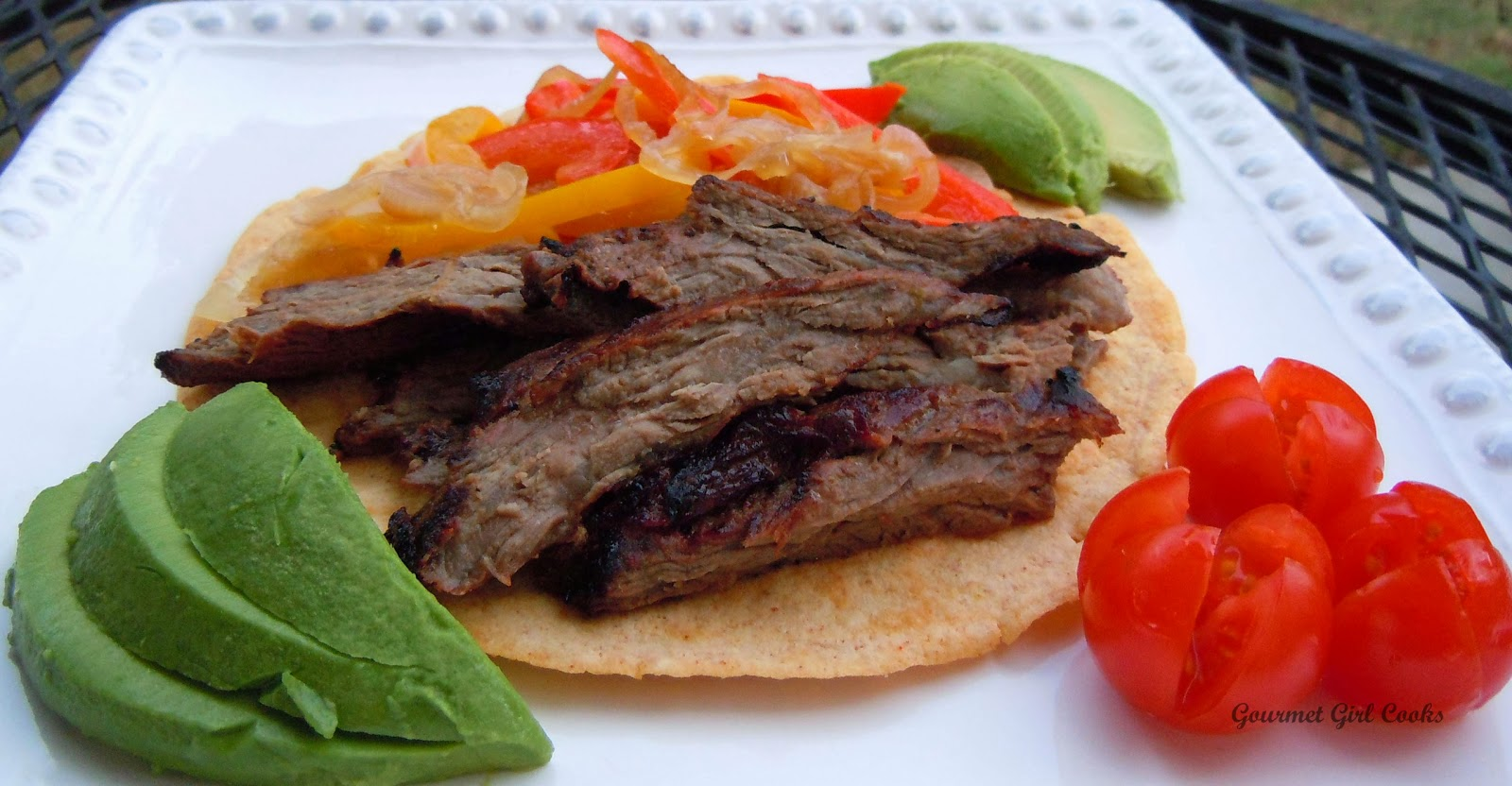 Gourmet Girl Cooks: Grilled Beef Fajitas w/ Chipotle Lime Marinade