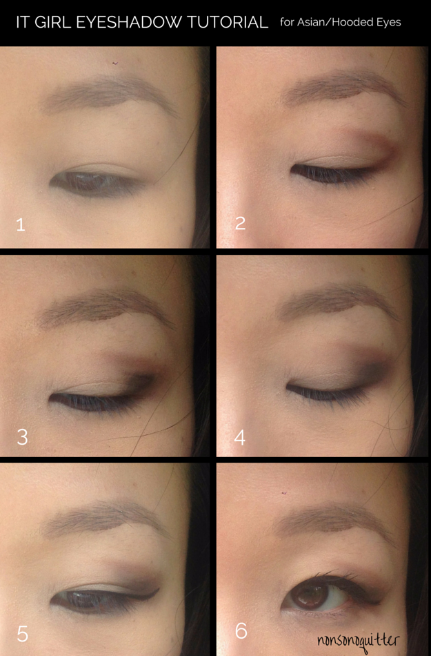 Soft, dramatic eyeshadow tutorial for Asian hooded eyes. 쎄 보이는 미국 서양 스타일 드라마틱 아이섀도 메이크업 Urban Decay Naked Basics Palette. Claire Marshall inspired eyeshadow look.