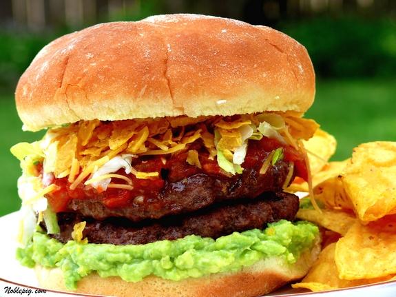 Taco Burger via Noble Pig