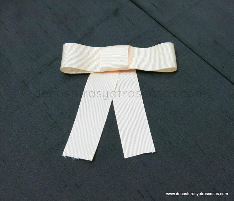 como hacer lazo de cinta grogrén