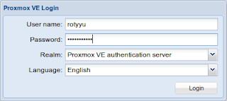 Login ke Proxmox