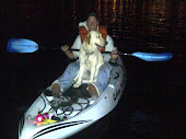 Buttercup and I out Kayaking at Night