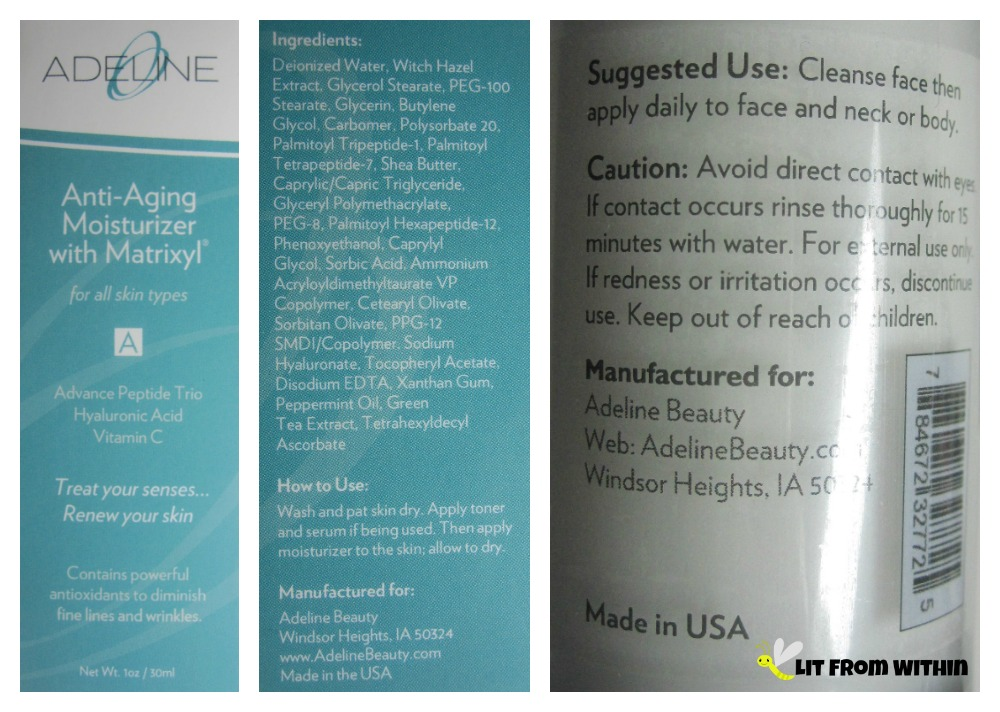 Adeline Anti-Aging Moisturizer with Matrixyl