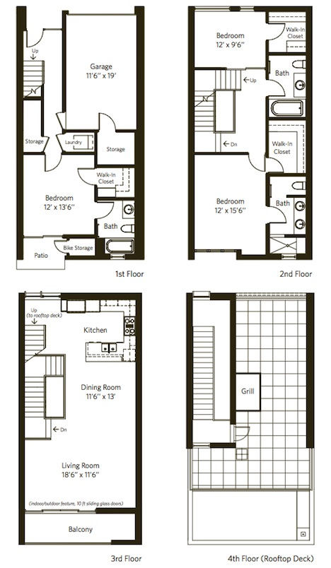 Ac capital partners llc for Contemporary townhouse plans