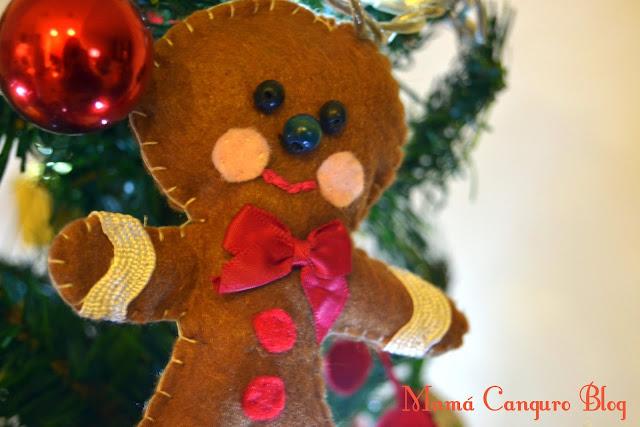 Broches navideños en fieltro