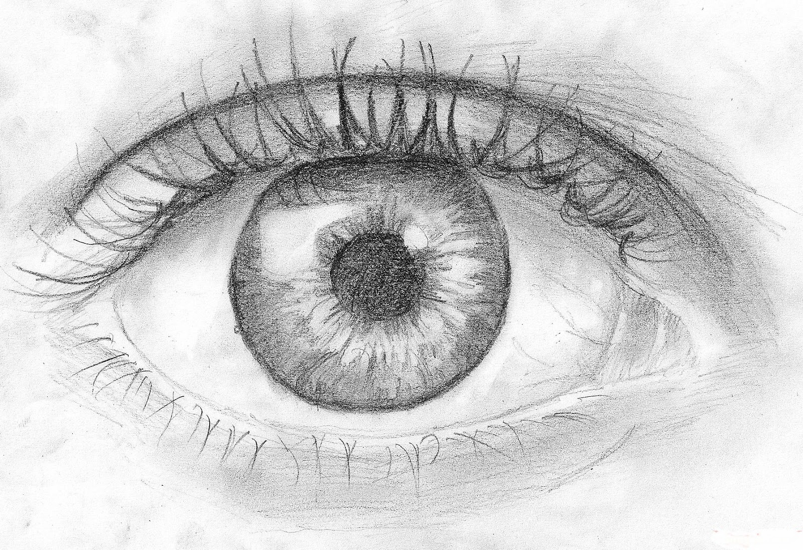 Scribble Eyes Drawing : How to draw an eye in pencil