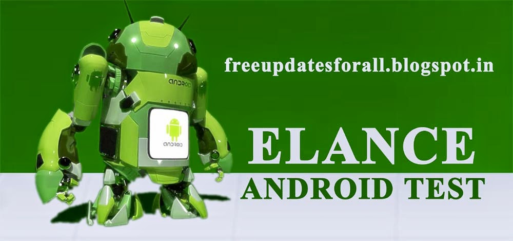 Find Elance Android Test Questions and Answers 2014
