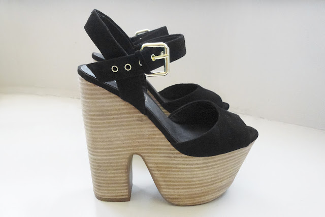 Topshop Lassie Stacked Platform Sandals