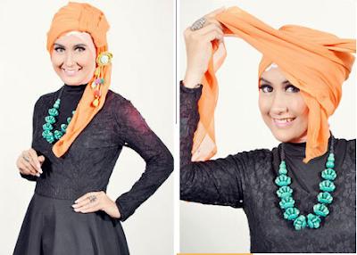 Tutorial Memakai Jilbab Segi Empat Turban