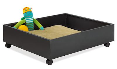 rolling under-bed storage drawer
