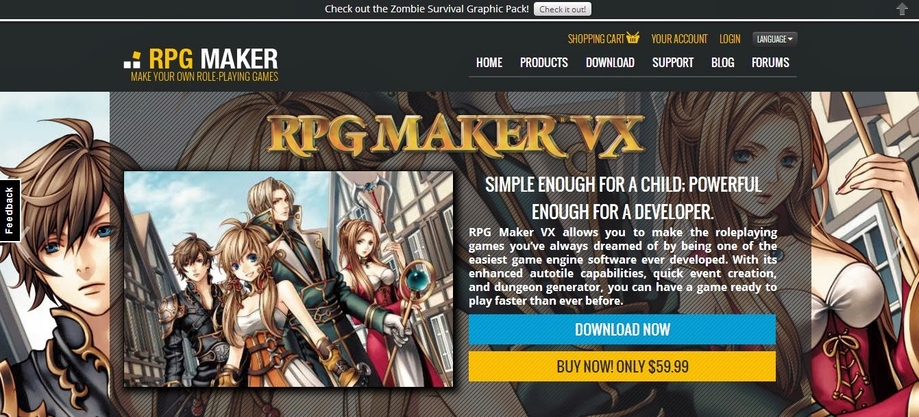 descarga gratis rpg maker: