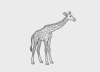 Giraff Coloring Pages