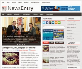 NewsEntry Blogger Template