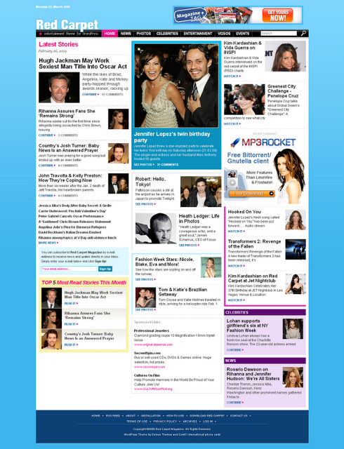 Red Carpet Celebrity SEO Blogger Template