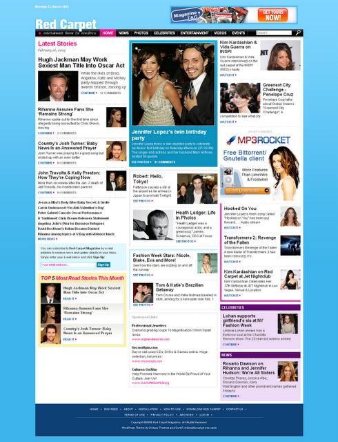 Red Carpet Celebrity SEO Blogger Template