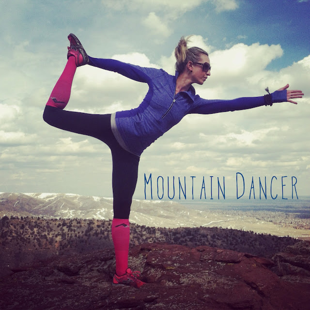 Mountain dancer pose yoga