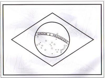 desenho para colorir sete de setembro, dia da independência, bandeira do Brasil