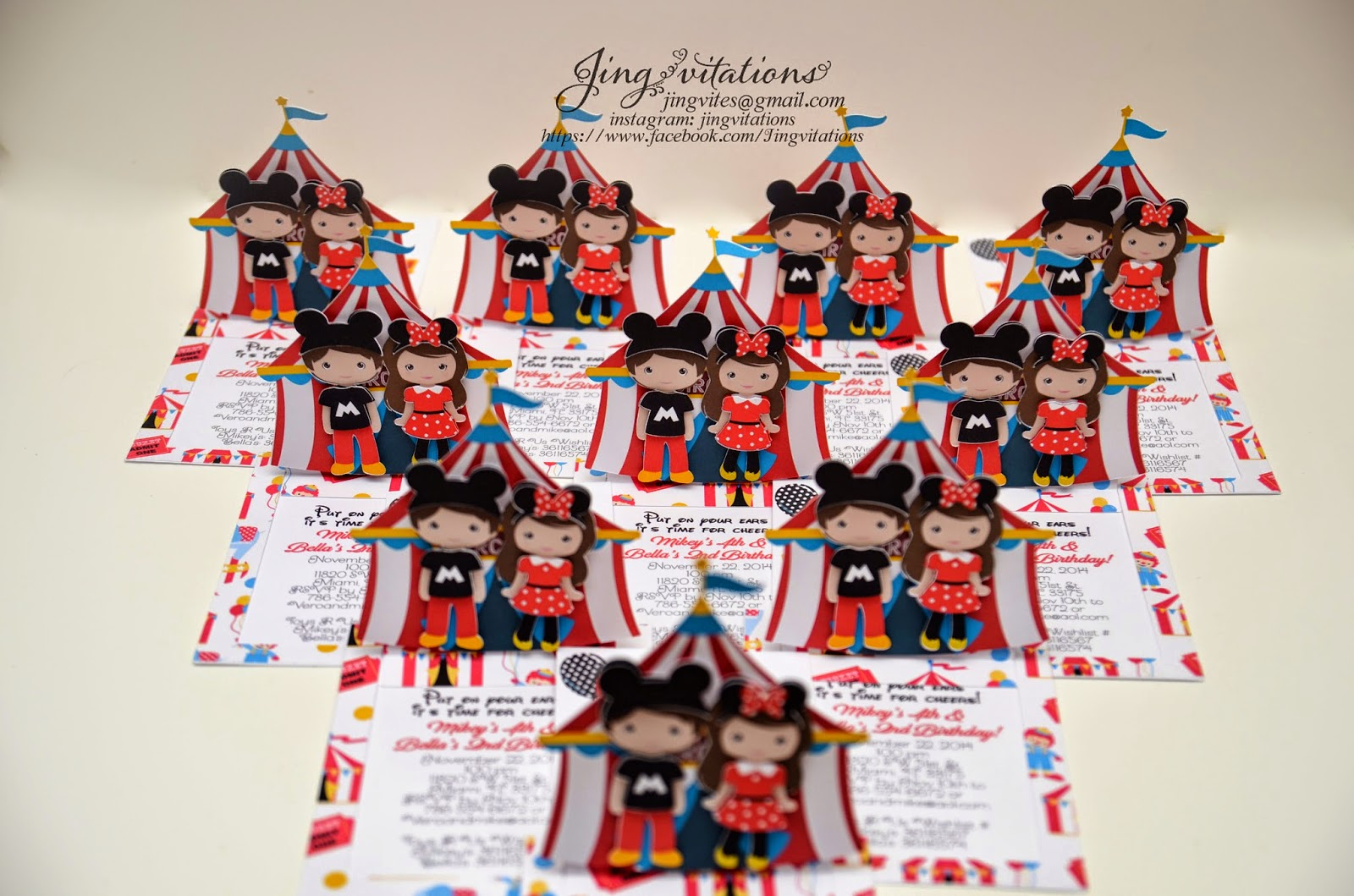 mickey mouse invitations, minnie mouse invitations