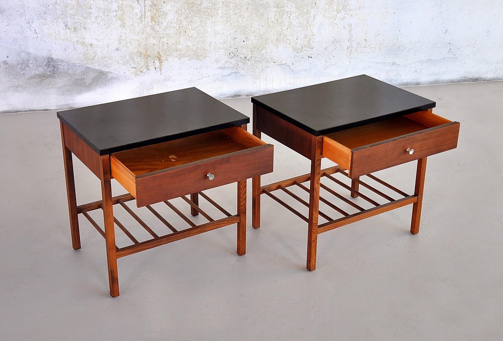 Select Modern Pair Of Nightstands Bedside Side Or End