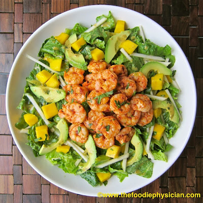 Caribbean Shrimp Salad with Honey Chipotle Dressing