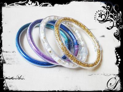 image vinyl tubing bangle bracelet jewellery jewelry glitter beads