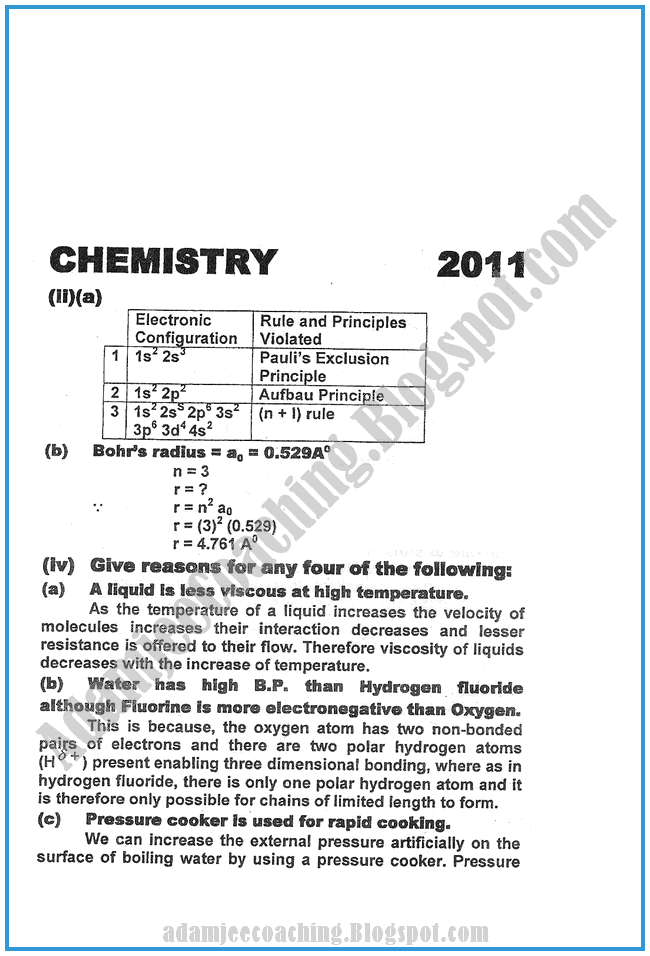 Chemistry-Numericals-Solve-2011-past-year-paper-class-XI