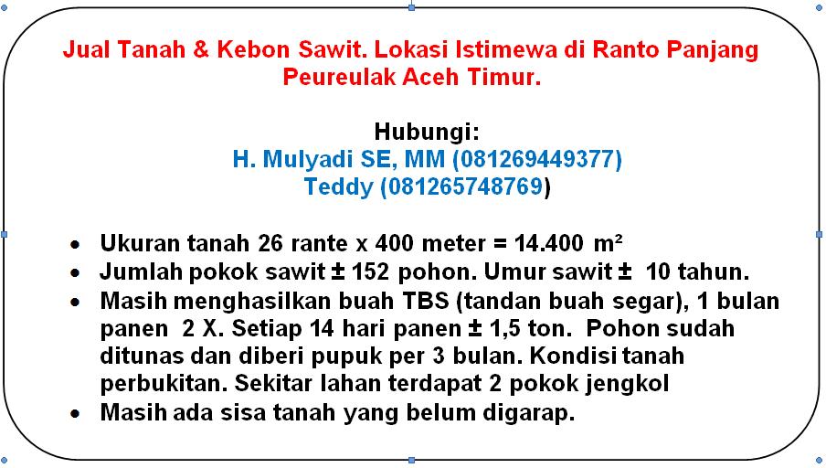 Investasi Berguna di Ranto Panjang Peureulak