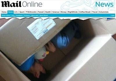 Chinês se envia pelo correio para namorada e quase morre sufocado