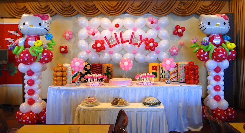 Lilly's Hello Kitty Themed 1st Birthday @ Hee Been in Alexandria