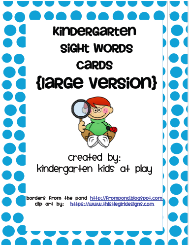 Sight  printable Freebie: At Play: Word Flash Kids word Kindergarten Kindergarten  kindergarten sight
