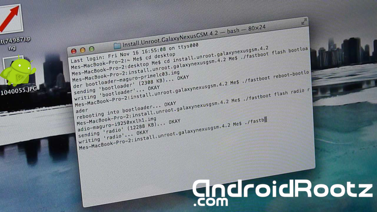 How to Unroot/Install Stock 4.2 Jelly Bean for Galaxy Nexus GSM on Mac