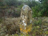La fita tri-termenal del Coll de Sant Llogari