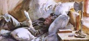 MAN READING, DE JOHN SARGENT SINGER