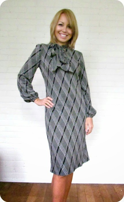 New Look Dress, Sewing, Librarian Dress, Argyle, Sewing Patterns