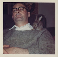 Dad and me and Sammy the rescued hare