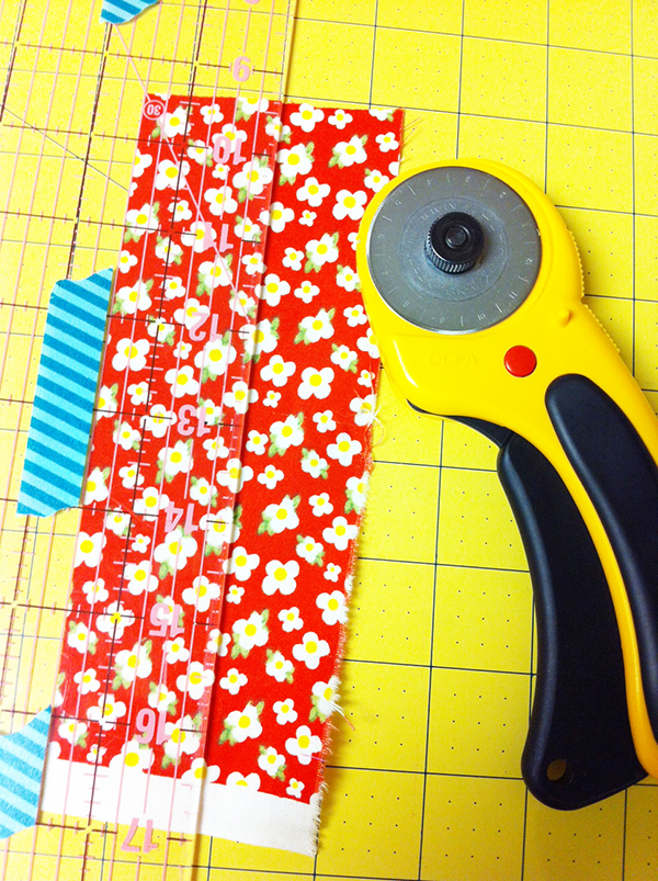 Mark rule with Washi Tape
