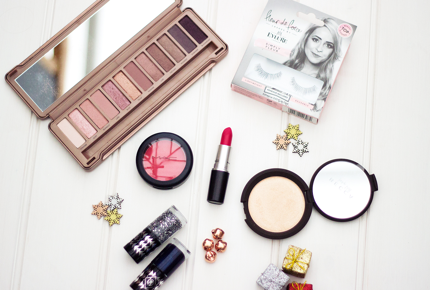 Christmas Party Glamour featuring MAC, Urban Decay, Becca, Body Shop and Eylur