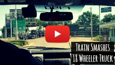Watch how a Speeding Train Smashed Through a 18 wheeler Crane Truck which got stuck at the level crossing via geniushowto.blogspot.com caught on camera accident videos
