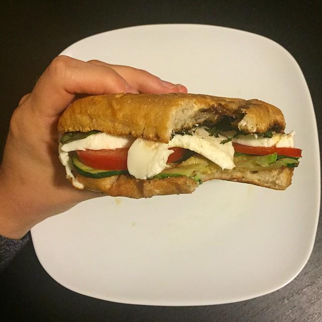 Meatless Monday: Zucchini Caprese Sandwiches