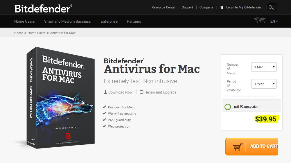 licencia de Bitdefender en mac