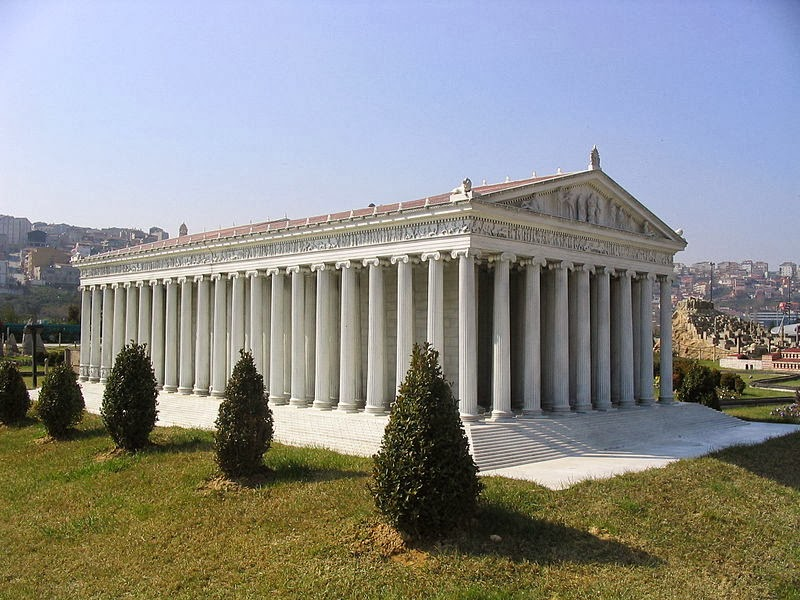 Top Of The Columns Are More Complex That Those Of The Doric Columns