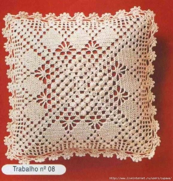 Cojin cuadrado crochet