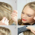 French Braid Tie Back Hairstyle Tutorial For Long Hair