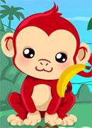 Уход за обезьянкой - Онлайн игра для девочек