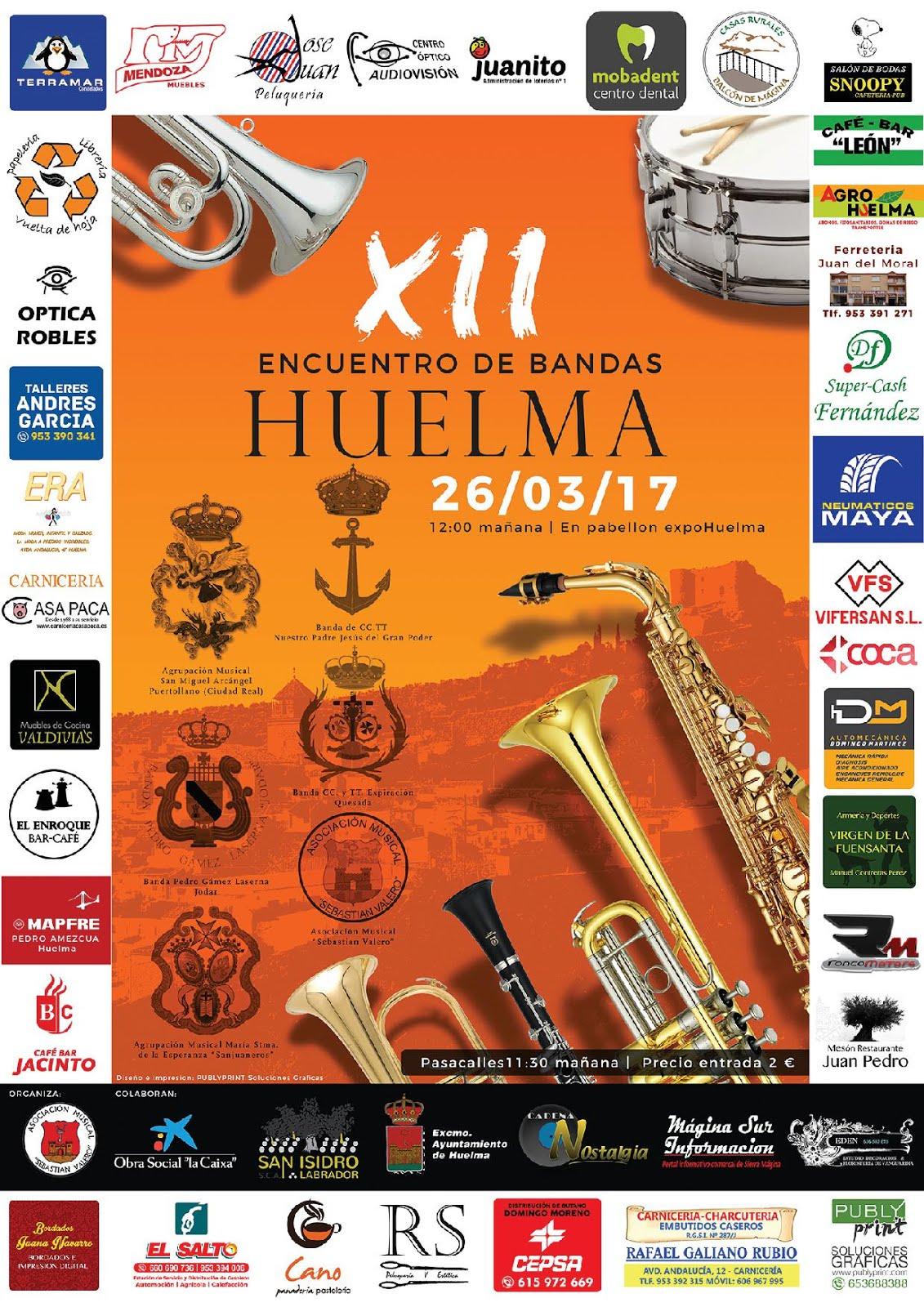 XII CERTAMEN DE BANDAS DE MÚSICA COFRADE 2016 EN HUELMA
