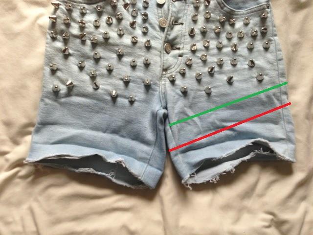 Sammi Jackson - DIY Bleached, Studded, Frayed Shorts